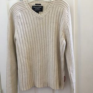 Men's Abercrombie & Fitch muscle sweater large